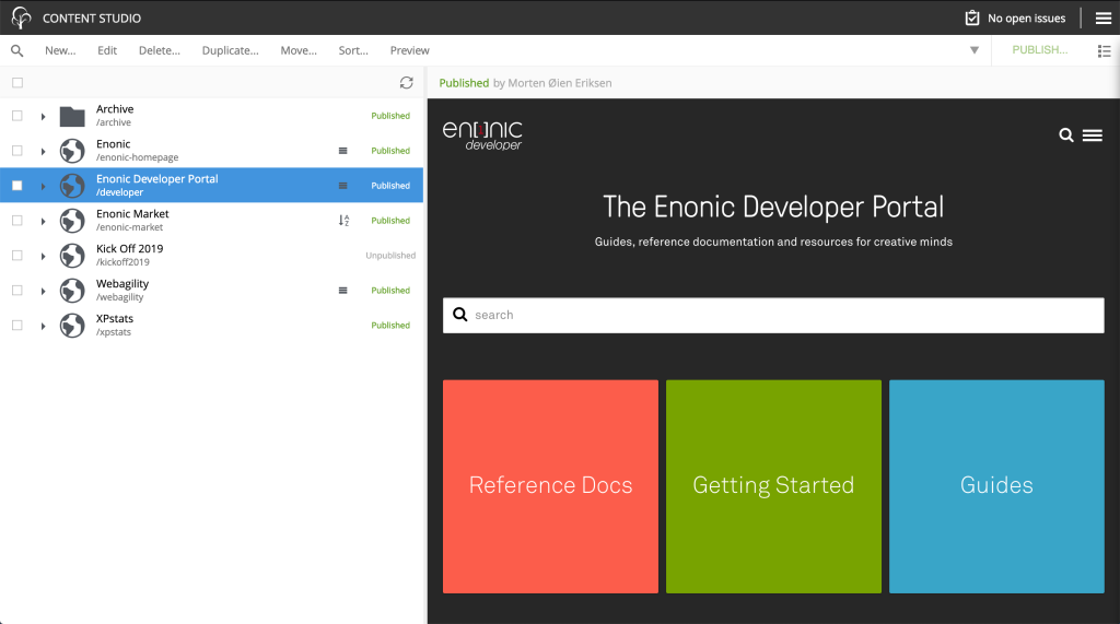 Content Studio - Enonic Market