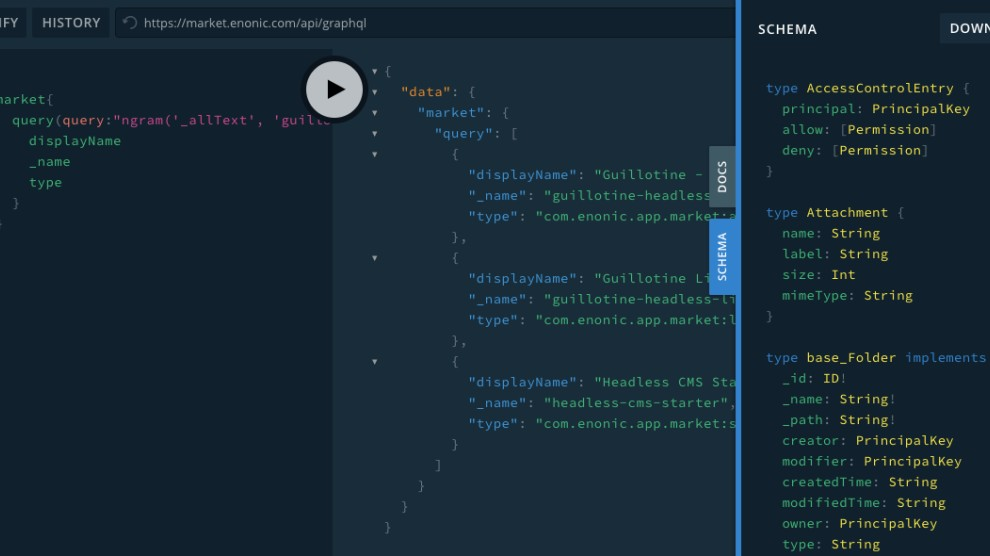 Access your content through a powerful GraphQL API